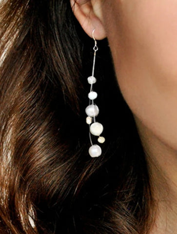 Freshwater Pearl and Silver Earrings