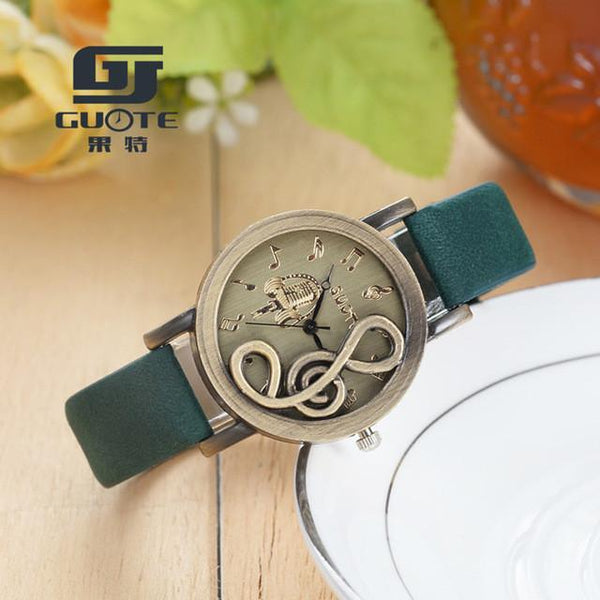 Musical Note Carving Watch