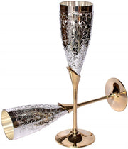 Brass Champagne Flutes