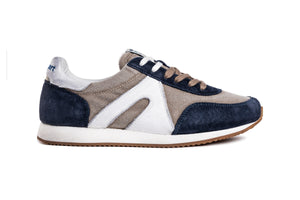 Super Canvas - Beige / Navy Blue