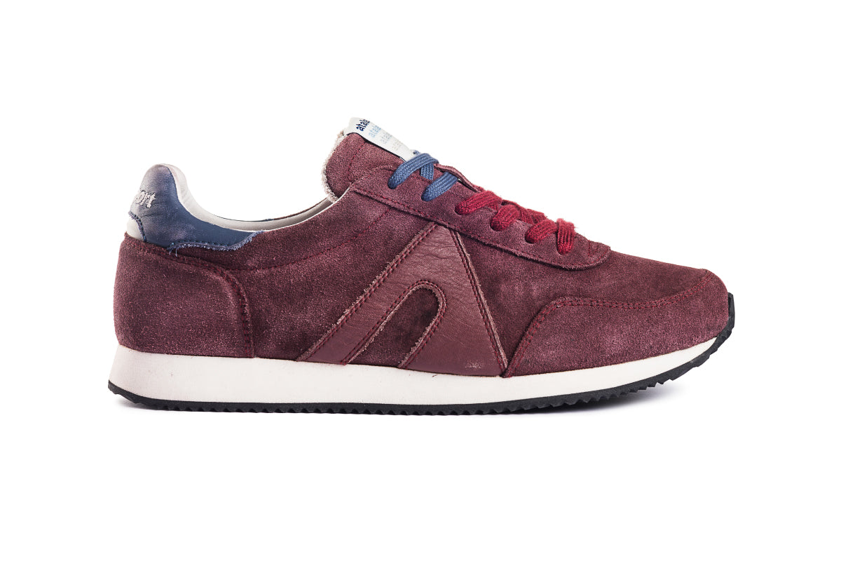 Super suede - Wine / Parisian Blue
