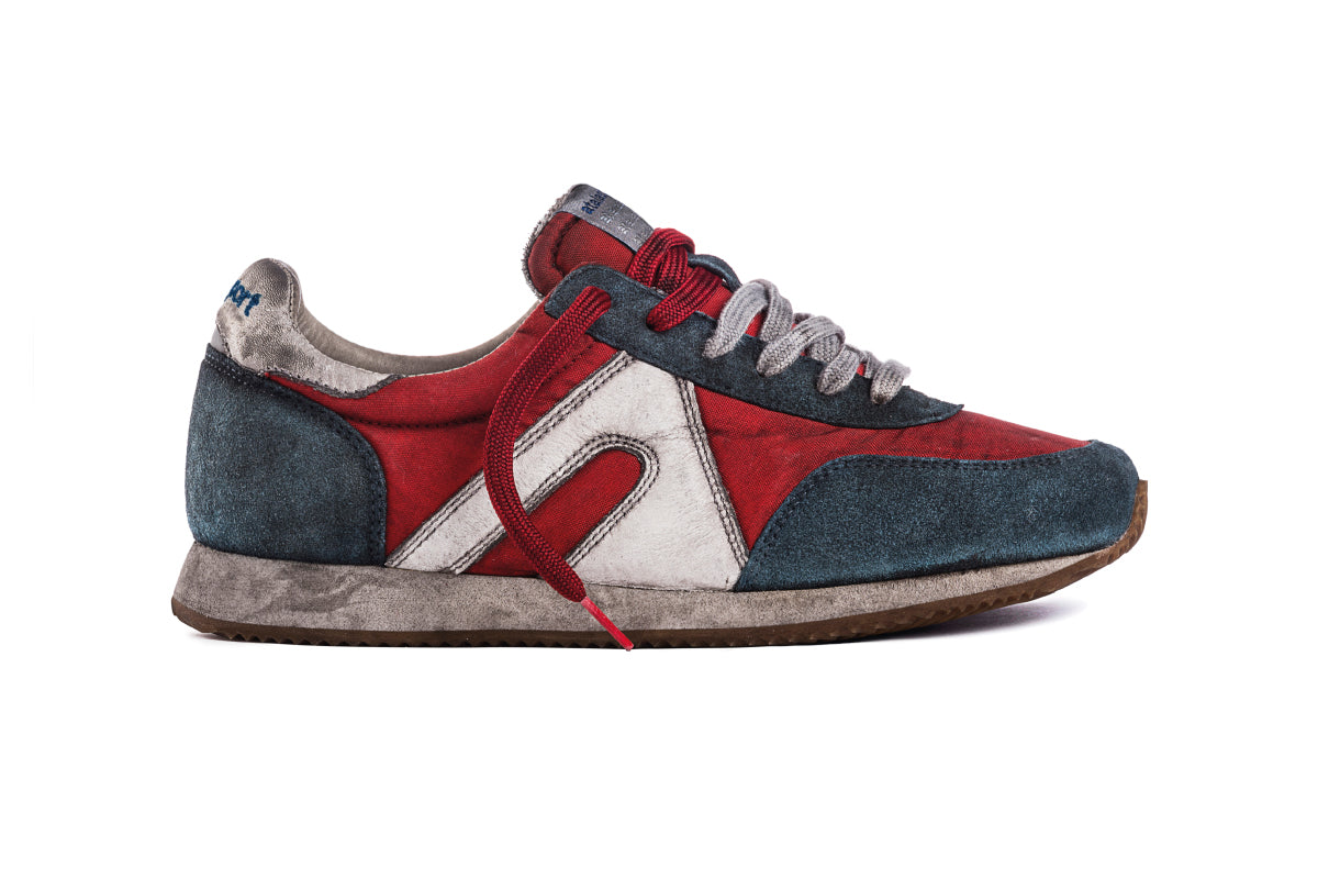 Super Nylon Dirty - Red / Baltic Blue