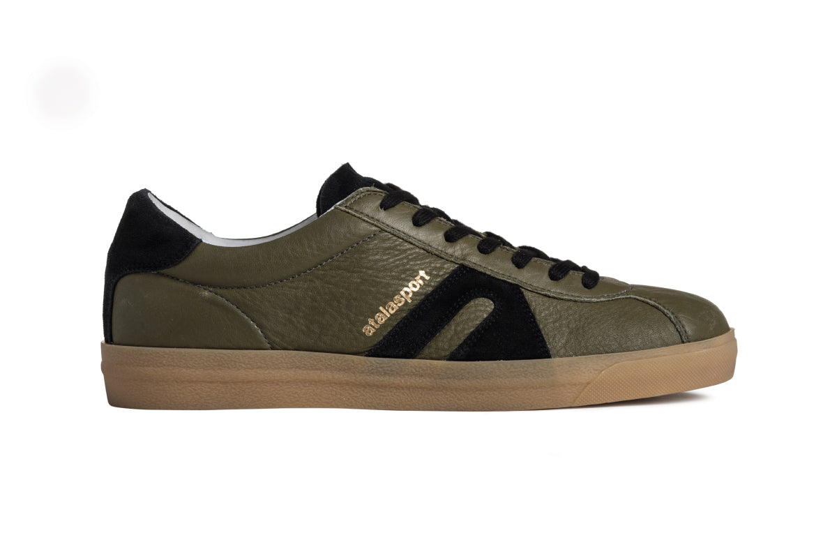 Star Leather - Olive / Black
