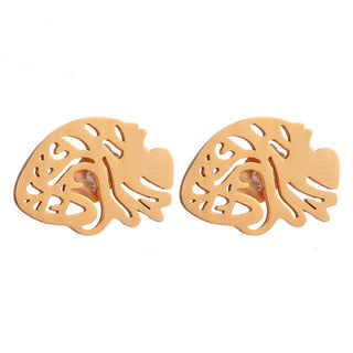 Medical Anatomy Heart Stud Earrings