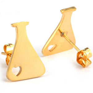 Medical Bottle Flask Stud Earrings