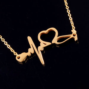 Heartbeat I Love You Necklaces