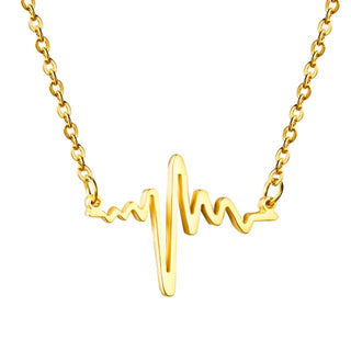 Fashion Heart Beat Pendant Necklace for Women