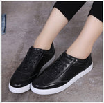 Leather Lace-Up Soft  Bottom Loafers Shoes
