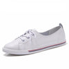 White Soft Soled Leather Shoes