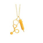 Stethoscope Syringe Pendant Necklace
