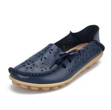 Genuine Leather Slip On Flats Boat Shoes