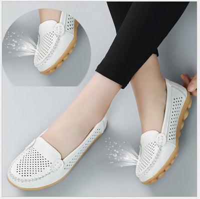 Genuine Soft Leather Flats Shoes