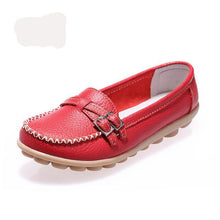 Leather Flat Shallow Mouth  Shoes