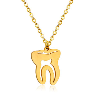 Medical Tooth Charm Pendants Necklaces