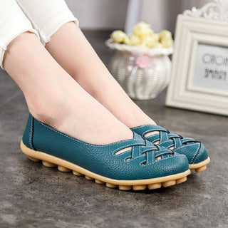 Women flat 2018 fashion PU leather shoes