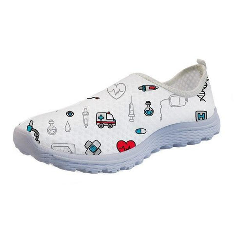 Printed Healthcare Slip-On Shoes