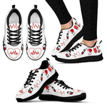 Women's Nurse Heart Printed Sneakers