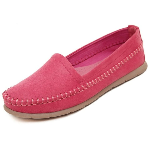 Spring Summer Women's Flats Loafers Breathable Soft Slip-On Mother Shoes