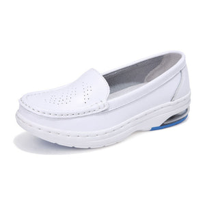 New White Nurse Shoes Hot Selling Genuine Leather Shoes