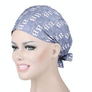 Text Printed Woman Surgical Cap