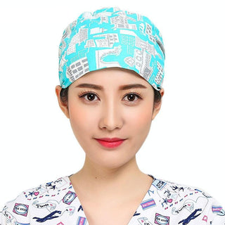 Printed Pixie Surgical Hat