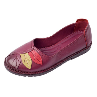 Women's Retro Leather Moccasins