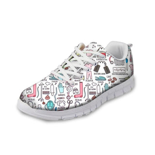 Cartoon Printed Sneakers