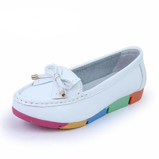 New Slip On Casual Solid PU Ladies Loafers Shoes