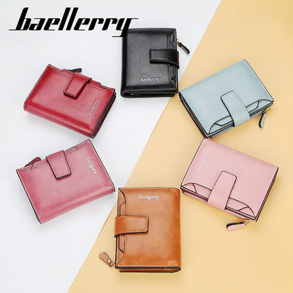 Baellerry N2349 Women Short Wallet PU Leather Clutch Card Holder