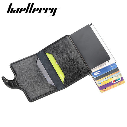 Baellerry Credit Card Wallet Slim RFID Blocking Credit Card Holder Minimalist Wallet Aluminum Purse