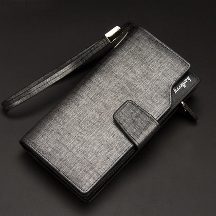 Baellerry 171-2 Solid Color Cell Phone Money Photo Card Clutch Wallet for Men