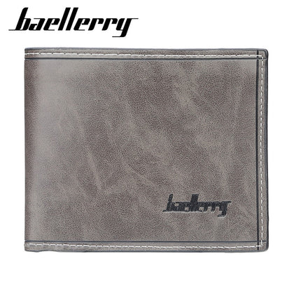 2019 New Baellerry PU Leather Simple Design Casual Men Wallet