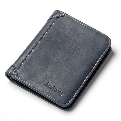 Baellerry PU Leather Men Wallet Coin Pocket Vintage Short Slim Male Money Card Holder