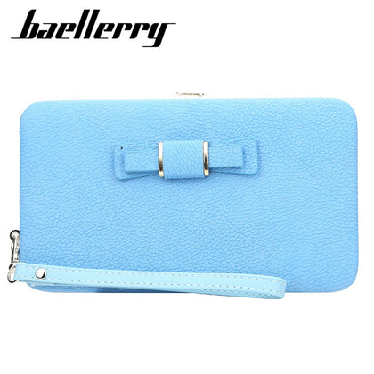 Baellerry Bowknot Fashion Multifunction Women Clutch Wallet