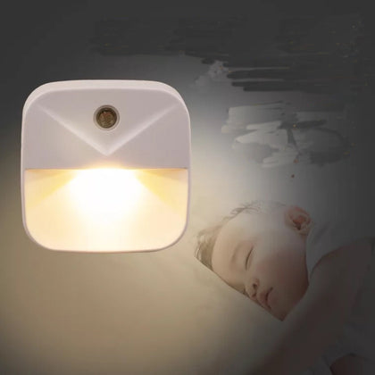 LED Light Controlled Night Light Intelligent Sensing Bedside Lamp