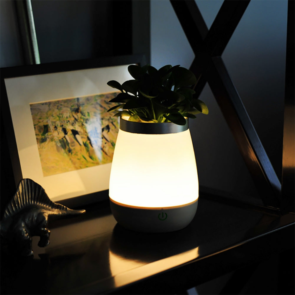 BRELONG LED Vase Night Light Indoor Desktop Flower Decor  Aquarium Light