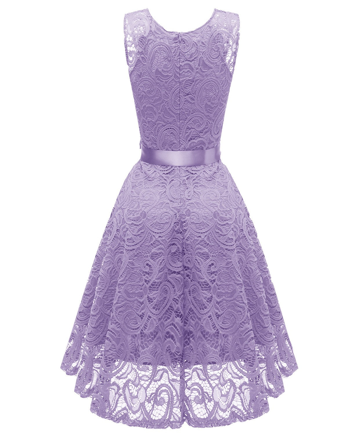 V Neck Lace A Line Sleeveless Dress