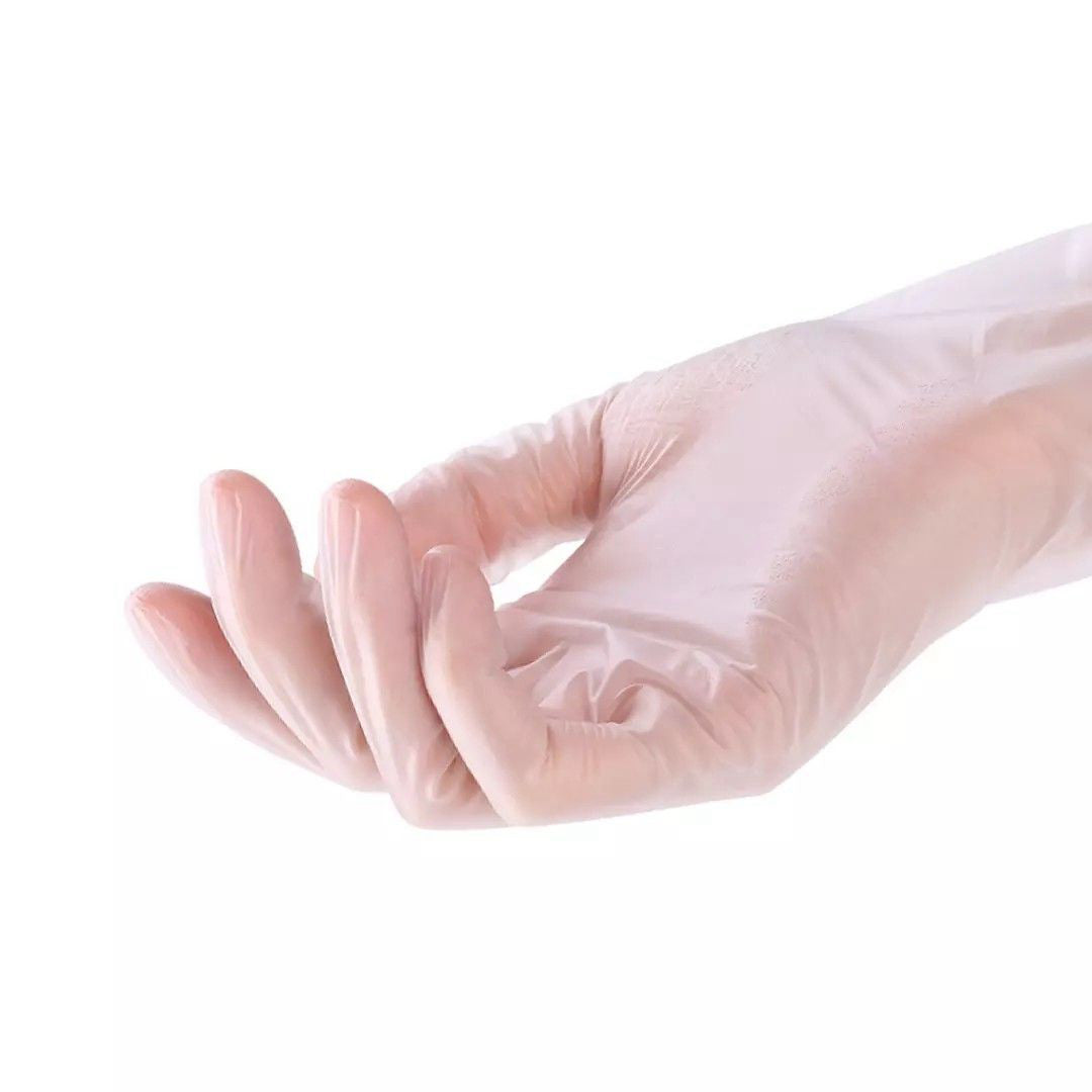 100PCS Disposable PVC Gloves Transparent Food-Grade Gloves
