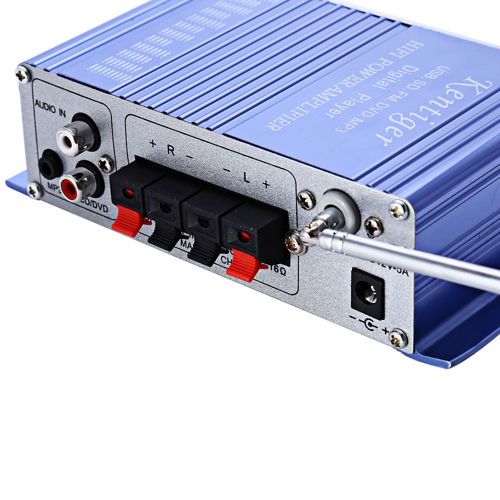 HY - 502 12V 2CH Hi-Fi Stereo Output Power Amplifier USB / SD Card Player