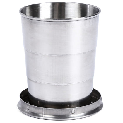 AOTU Telescopic Stainless Steel Cup with Buckle Three Section Outdoor Tool