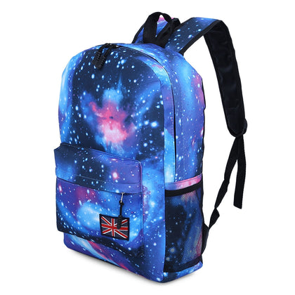 Brilliant Cosmos Print Unisex School Shopping Travel Portable Backpack