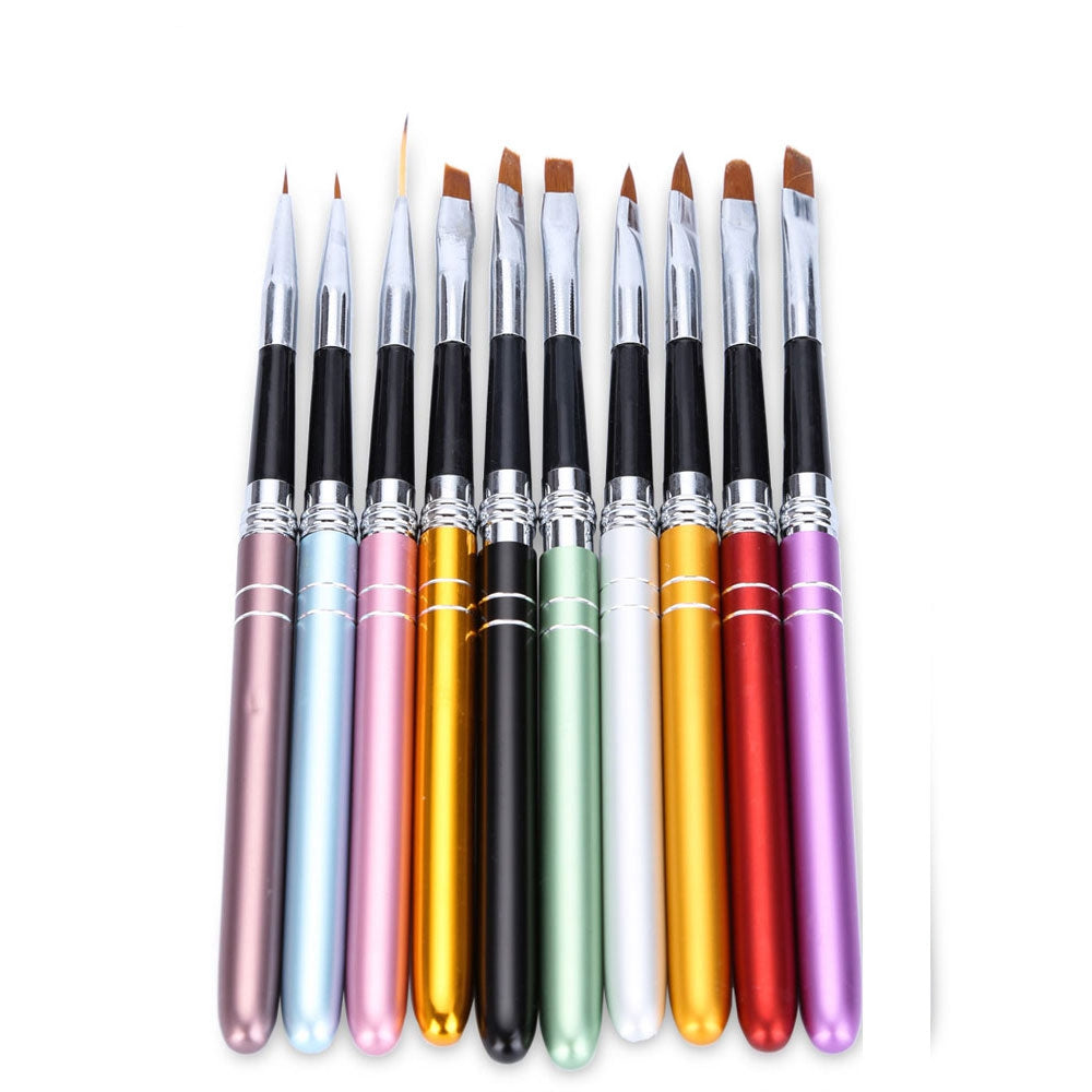 10pcs Professional Nail Design Brush Manicure for Painting Dot Tool Brushes