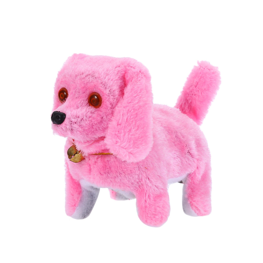 Electronic Walking Barking Dog Doll Toy with Flash Light Eye Birthday Christmas Gift for Baby