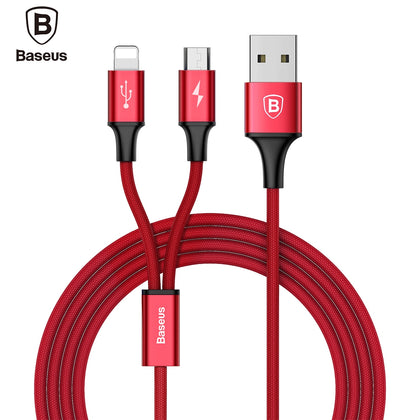 Baseus Rapid Series Micro USB 8 Pin Charging Data Cable 1.2M