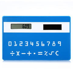 1PC Mini Slim Credit Card Pattern Solar Power Pocket Calculator