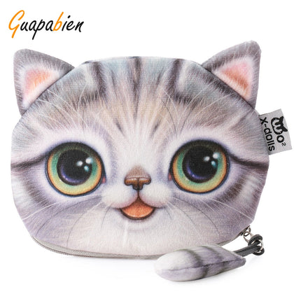 Guapabien Cartoon Cat Zipper Design Workmanship Coin Purse for Ladies