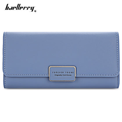 Baellerry Foldable Long Clutch Wallet Card Holder for Women