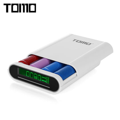 TOMO S4 DIY 4 x 18650 Li-ion Battery Smart Power Charger