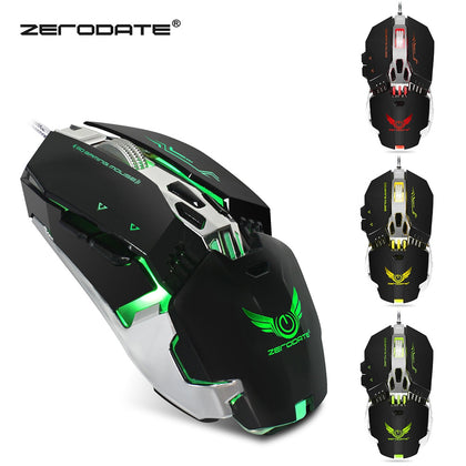 ZERODATE X800 Wired Gaming Mouse Adjust Weight 3200DPI
