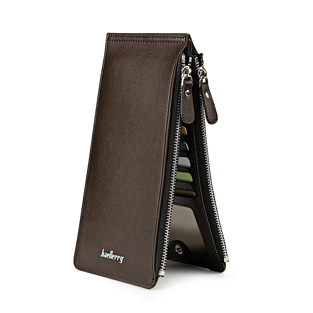 baellerry Unisex Double Zipper Horizontal Thin Wallet